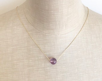 Amethyst necklace, Healing Crystals, healing jewelry, Birthday jewelry, February birthstone, Gemstone necklace, Mothers day gift, Gift