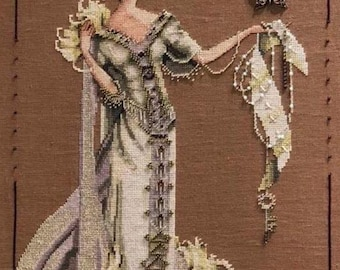 COMING SOON! MIRABILiA Lady Mirabilia counted cross stitch patterns OPTIONAL embellishments at thecottageneedle.com