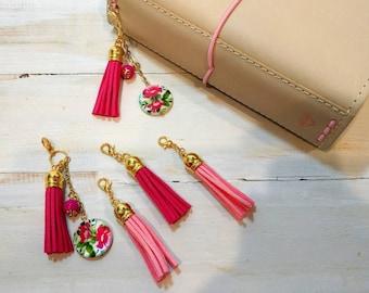 Pink Tassel Planner Charms