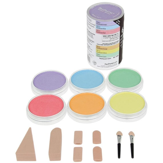 Panpastels Genuine artists' quality pastels Pearlescent #30062 - 6 color set of pastels offering the richest, ultra soft low-dust formulatio