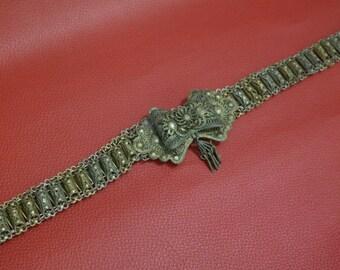 Antique Collectible Belt, Antique Silver Belt, Antique Jewelry, Greek Belt, Antique Giannena Belt, Antique Buckle
