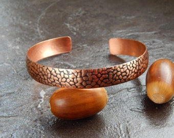 copper bracelet, thin copper bracelet, narrow copper bracelet, open copper bracelet, unlocked copper bracelet, dimensionless copper bracelet