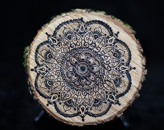 Tree Cross-Sections Adorned with India Ink