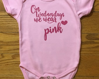 On Wednesdays We Wear Pink // Mean Girls Onesie