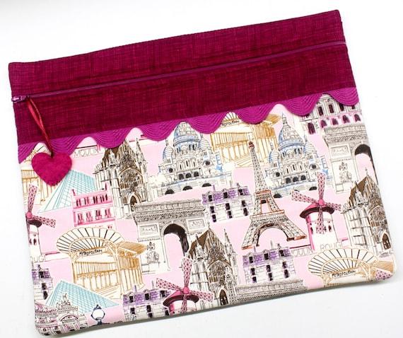 I Love France Cross Stitch Project Bag