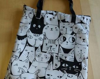 great bag zipped cats