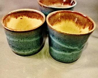 Blue Rutile/Shino cups 2nds Sale FREE SHIPPING!