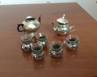 A beautiful Antique  Silver German Miniature  Tea set
