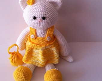 Amigurumi Cat, Crochet Cat, Yarn Cat, Amigurumi Kitty, Stuffed cat