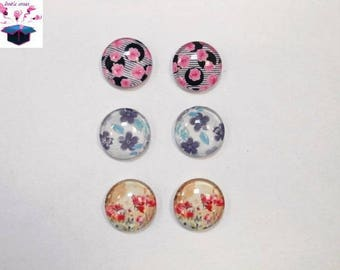 6 glass cabochons 18 mm lot number 78 as shown