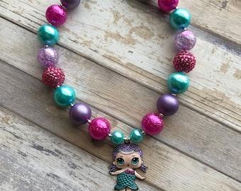 Mermaid Doll Bubblegum Necklace LOL