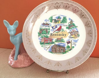 Vintage 50s Kentucky Souvenir Collector Plate