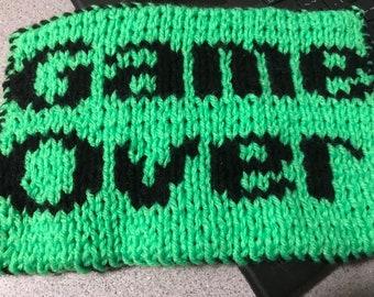 Game over knit potholder