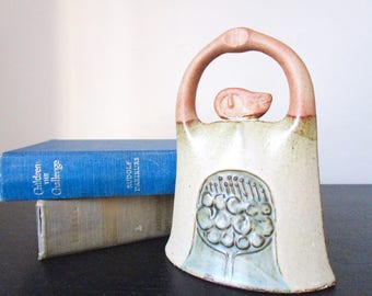 Vintage Japanese clay bell.  Zen decor // terracotta sculpture // decorative bell // meditation gift // woman figurine // asian // yoga bell