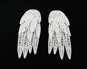 Embroidered Dyeable Lace Wings