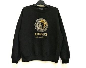 Vintage versace big logo embroidery