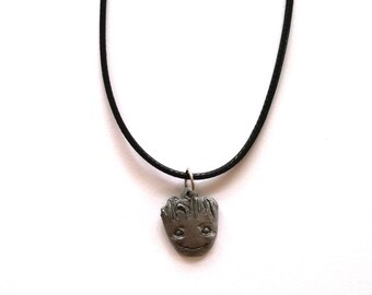 Hand Made Guardians of the Galaxy Baby Groot inspired necklace