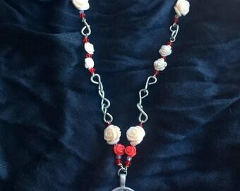 Lace Rose Necklace (Benefits Domestic Violence Survivors)