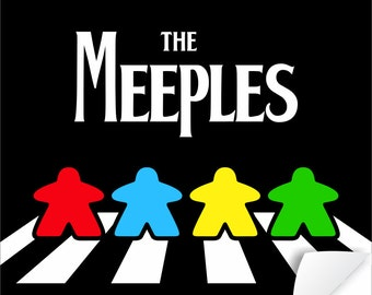 The Meeples of Abbey Road Poster | meeple | tabletop and hobby gaming decor | boardgaming art for boardgame geeks - geeky goodies