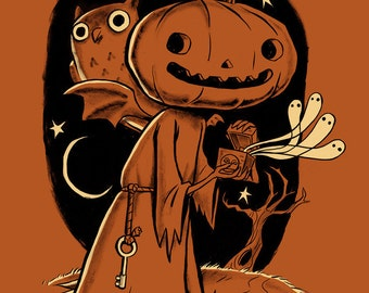 "The Halloween Box 12"" x 18"" Signed Art Print by Rhode Montijo"