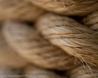Nautical Rope, Macro Photography, Tropical Print, Beach Home Decor, Fine Art Photograph, Neutral Colors, Nautical Decoration, Close Up Photo