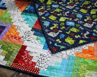 Baby quilt, rainbow baby quilt, baby boy quilt, baby girl quilt, modern baby quilt, baby blanket, baby bedding, baby boy blanket