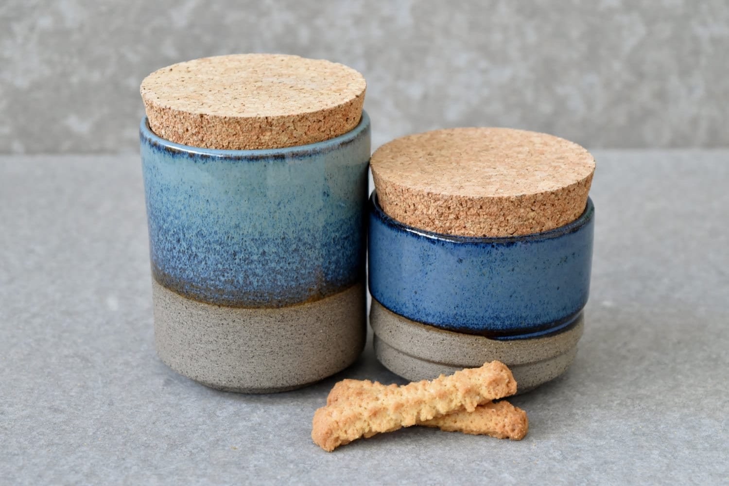 Pottery Kitchen Canisters Set Sugar Coffee Spices Jar