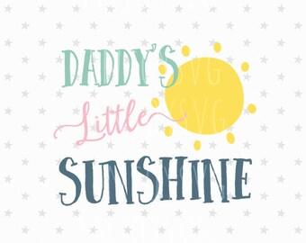 Daddy's little sunshine svg Valentine svg Daddy's sunshine svg Valentine svg Sunshine svg Valentine svg Silhouette svg Cricut svg Vector