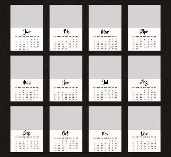 Photoshop Calendar Template 2018 Idealstalist