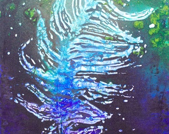 """Feather - Original 24""""x36""""x1.5"""" Acrylic Painting/Mixed Media on Gallery Wrapped Heavy Duty Canvas"""