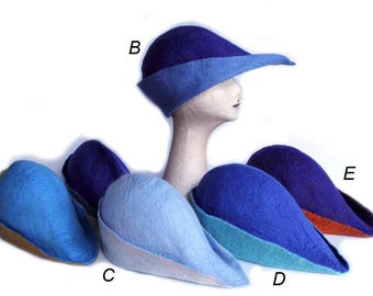 Archers Hat, Handfelted Hats, Medieval Felt Hat