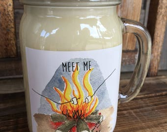 Apple Butter Candle  / Soy Candle / Fall Candle / Fall Scent / Autumn Scent /Drinking Glass / Fall Scented Candle / Thanksgiving Decor