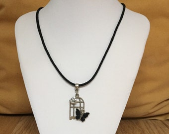 Butterflies Cage necklace