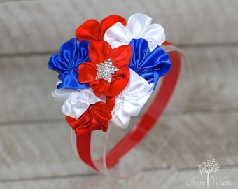 Fourth of July Headband - Red White and Blue Headband - 4th of July Headband - Patriotic Headband - Independence Day - Baby Headband