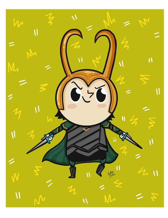 Loki Fan Art Wall Art Print Super Hero Nursery Art