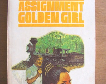 Assignment Golden Girl Vintage Paperback Book Edward S. Aarons Pulp Fiction 1970s Suspense Espionage Africa Crime CIA Spy Novel Sam Durell
