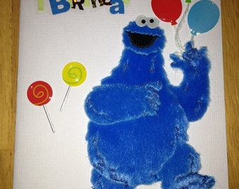 Cookie monster card etsy cookie monster 1st birthday card bookmarktalkfo Choice Image
