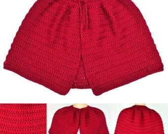 Classic Capelet - 9 Sizes - PDF Crochet Pattern - Instant Download