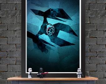 TIE Defender - Star Wars X-Wing Poster Lustre Print