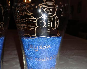 Glass: snowman (Merry Christmas!)