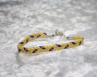 braided bracelet with a satin cord