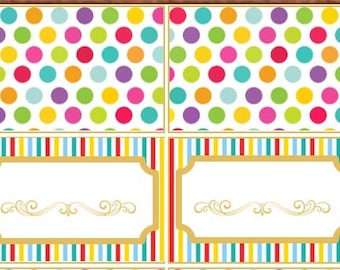 Circus Carnival Tent Tags - Digital File