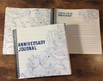 Anniversary Journal - Minimal Beach Theme