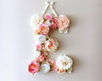 Nursery Letter, Bohemian nursery decor, Floral letters, Floral letters, Nursery decor, Nursery wall letters, Baby shower gift, Photo Prop
