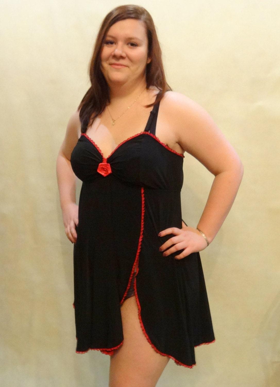 Womens Lingerie Nightwear Nightdress Chemise Camisole Babydoll-1360