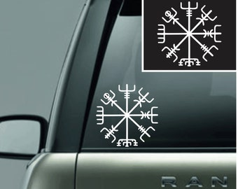 Celtic Norse Viking Vinyl Decal Sticker White Vegvisir