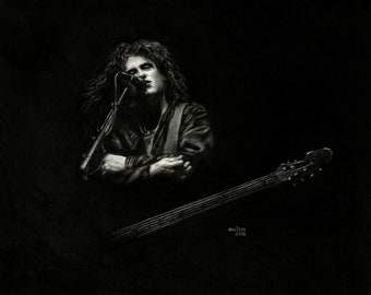 Art Print The Cure's Robert Smith On Stage