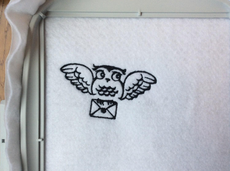 Harry Potter-Hedwig und Brief - Maschine Stickerei Design von ...