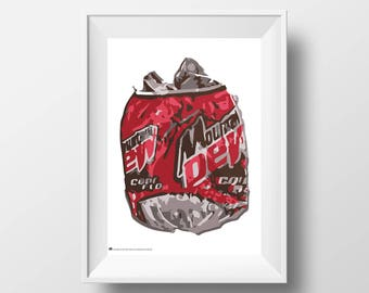 Cans Poster Series, No. 03, Mountain Dew | Code Red