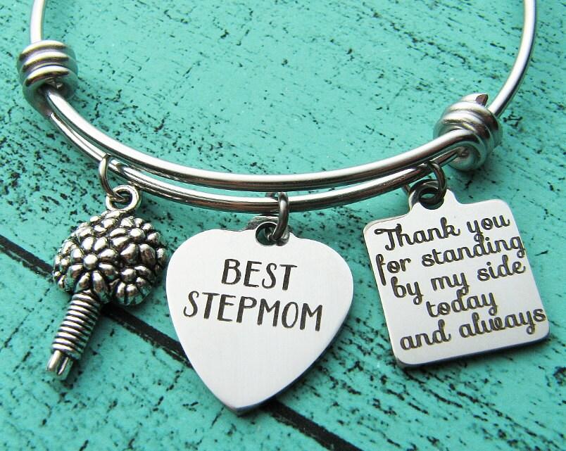 Wedding Gift For Dad And Stepmom: Stepmom Of The Bride Gift Bracelet Stepmother Gift Step Mom